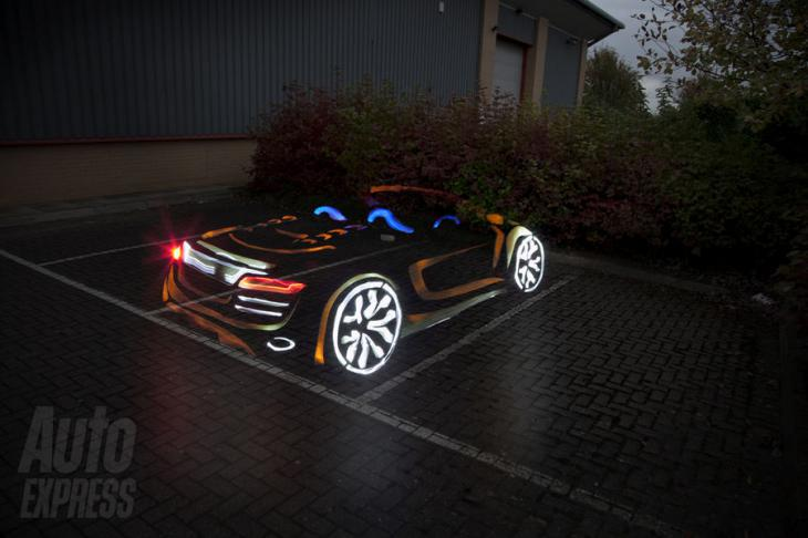 Audi R8 Spyder - Световое граффити - Авторалли, Авторалли, Световое граффити, LIght graffiti, Audi R8 Spyder